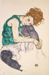 Egon_Schiele_-_Seated_Woman_with_Legs_Drawn_Up_(Adele_Herms)_-_Google_Art_Project