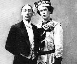 Stravinsky och Nijinskij som Petrusjka.