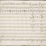 Mozarts autograf med det välkända temat i andra satsen.